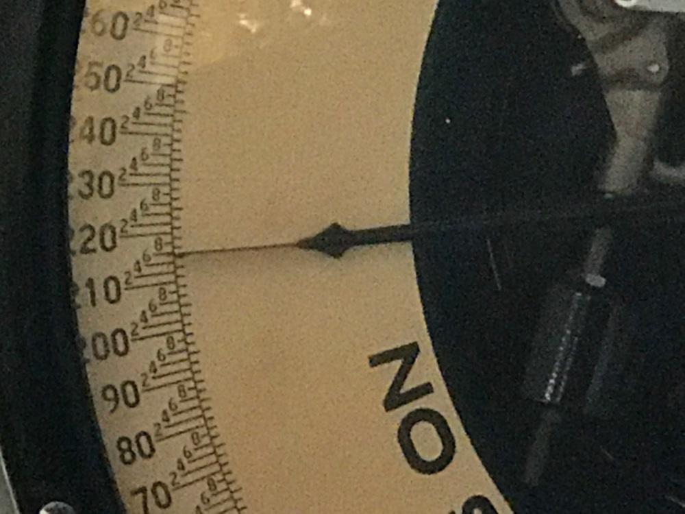 STEVE'S WEIGHT ON WESTSIDE MARKET SCALE