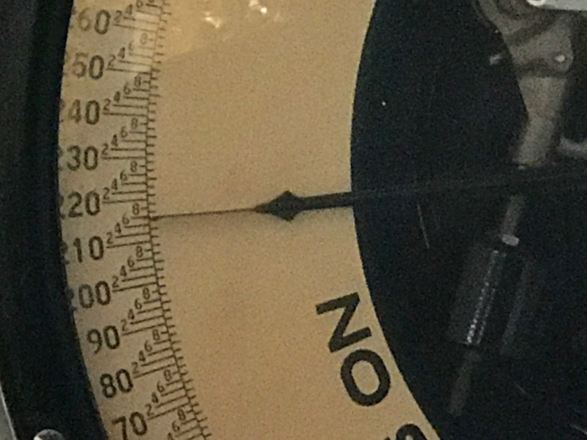 STEVE'S WEIGHT ON WESTSIDE MARKET SCALE