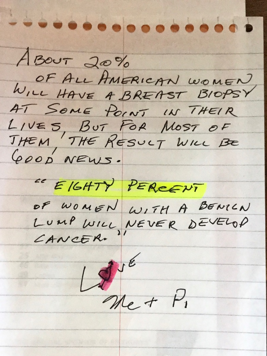 BREAST CANCER MESSAGE FROM STEVE 1
