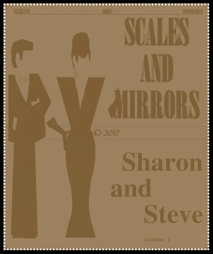 SCALES AND MIRRORS BLACK AND WHITE BORDERS