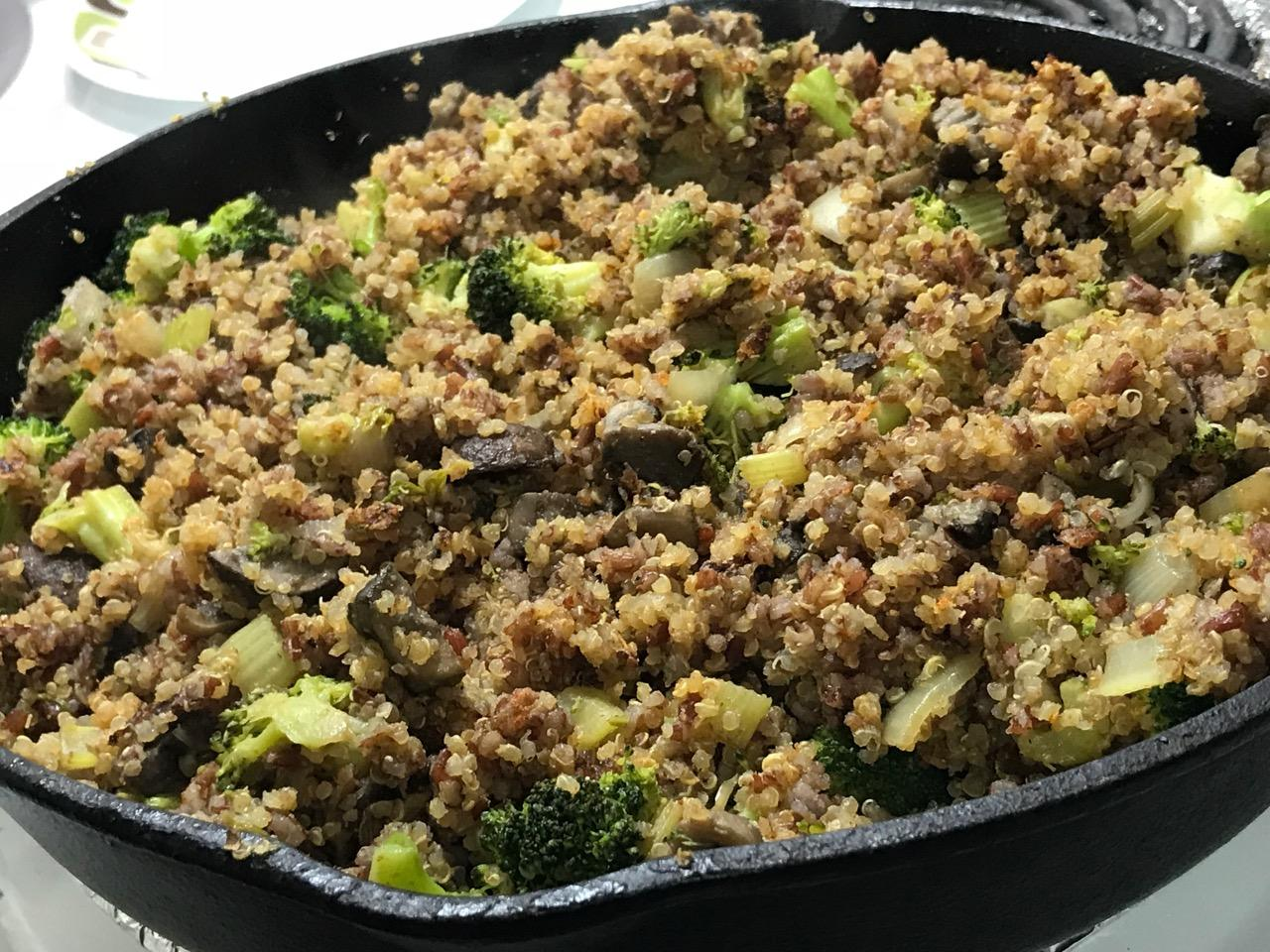 BROCCOLI RED FRIED RICE AND QUINOA 4