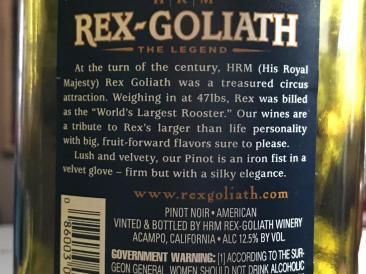 REX-GOLIATH 47 POUND ROOSTER PINOT NOIR 2