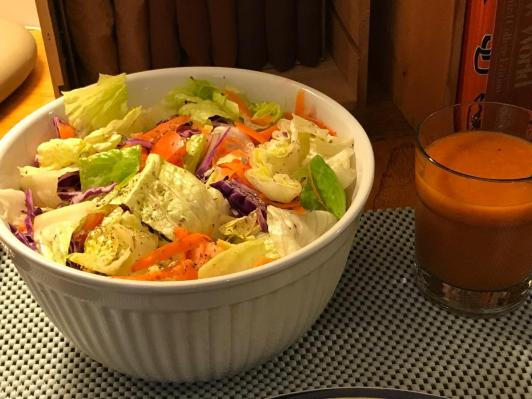 SALAD W:FANTA ORANGE SODA DRESSING