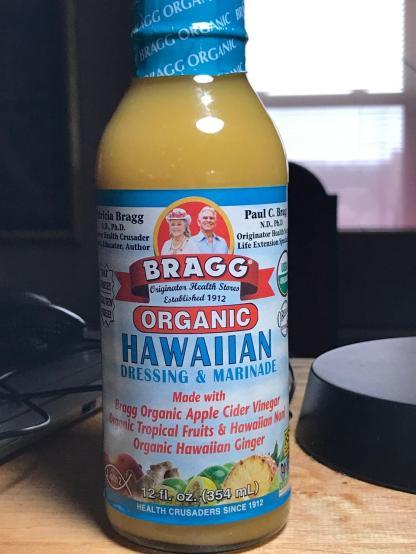 FAT-FREE HAWAIIAN FRUIT DRESSING using Bragg Bottled Dressing 1