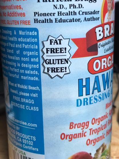 FAT-FREE HAWAIIAN FRUIT DRESSING using Bragg Bottled Dressing 4